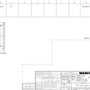 Sealing Ring Din7603-A22X27