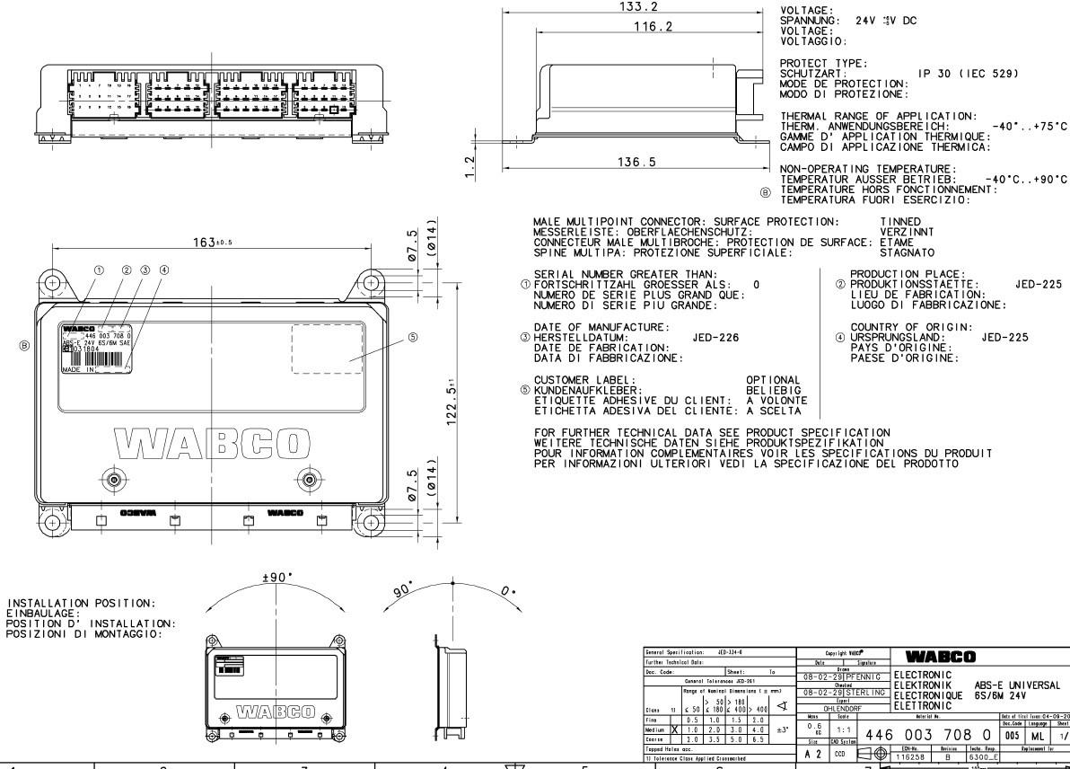 Ecu Abs-E Universal 6S/6M 24V